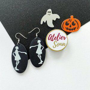 Dancing Skeleton Earrings - Girl